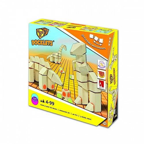 Beluga DOCKLETS 58010 3D дървен пъзел динозавър