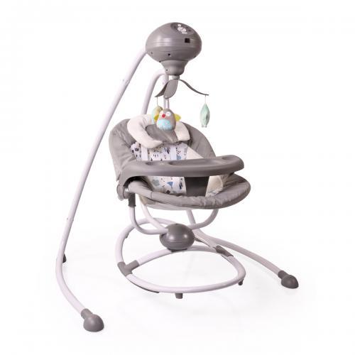 Електрическа люлка Woodsy от Cangaroo цвят сив
