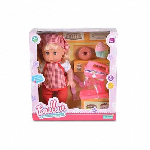 Кукла Baby baellar 33 см с миксер