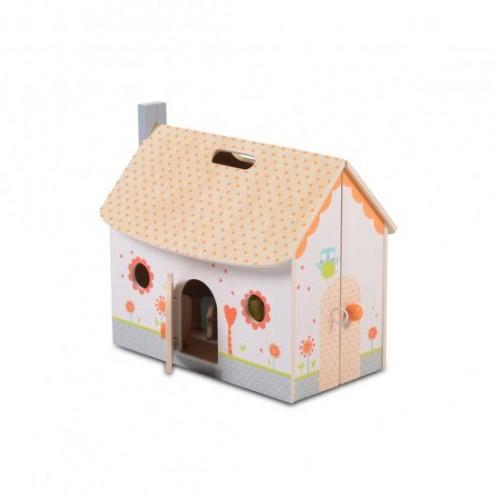 Дървена къща за кукли Moni Toys