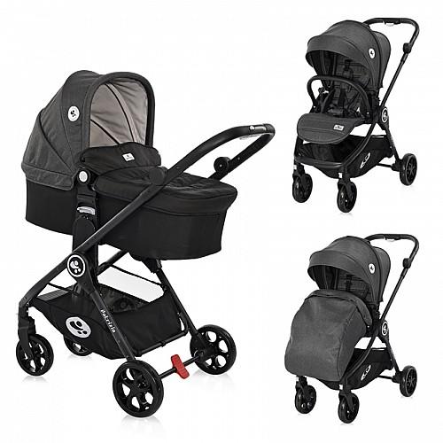 Бебешка количка Patrizia от Lorelli цвят тъмно сив