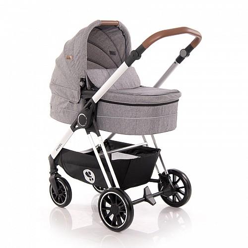 Комбинирана количка Angel 3 в 1 на Lorelli цвят: сив