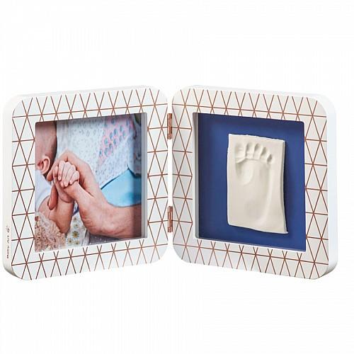 Baby Art Отпечатък Print квадратен - бяла/сива + декоративна рамка